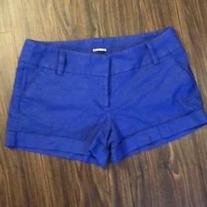 Express blue shorts